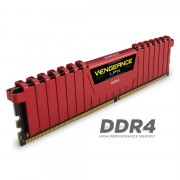 DDR4, KIT 8GB, 2x4GB, 3200MHz, Corsair Vengeance™ LPX Red, CL16 (CMK8GX4M2B3200C16R)