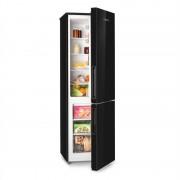 Klarstein Luminance XL, хладилник с фризер, 177/74 l, A+, стъклена предна част, черен (Luminance-XL-black)