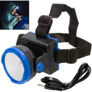 Rechargeable Ultra Bright 1 Big Led Headlight Headlamp Head Lamp Torch Flashlight - 43