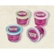 """Amscan Party Perfect Sparkling Glitter Putty Favors, 1 1/4"""" x 1 1/2"""", Multicolor"""