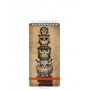 Book Owls Keskeny Notesz