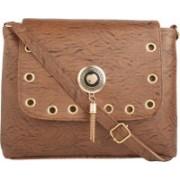 Savitri Arts Brown Pu Casual Sling Bag For Women Sling Bag(Brown, 10 L)