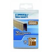 Capse Rapid 90 40 mm galvanizate cu rasina 1.500 cutie polipropilena
