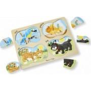 Puzzle lemn 4 in 1 Animale de companie