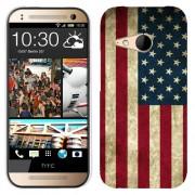 Husa HTC One Mini 2 M8 Mini Silicon Gel Tpu Model USA Flag