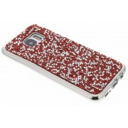 Rood blingbling TPU hoesje voor de Samsung Galaxy S7 Edge