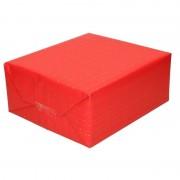 Shoppartners Inpakpapier/cadeaupapier rood met gouden strepen 200 x 70 cm