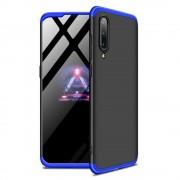 GKK 360 Protection telefon tok hátlap tok Első és hátsó tok telefon tok hátlap az egész testet fedő Xiaomi Mi 9 fekete-kék