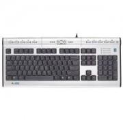 Мултимедийна клавиатура A4tech KL-7MU, ергономична USB, изход за слушалки и микрофон - A4-KEY-KL7MU-USB