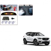 Auto Addict Car Silver Reverse Parking Sensor With LED Display For Volvo XC40