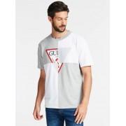 Guess T-Shirt Logo Geometrische Print - Multicolor - Size: Large