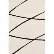 Dekoria Dywan Modern Lines Cream/black 135x190cm, 135 × 190 cm