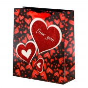 Punga de cadou neagra Love You