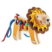 Hape - Early Explorer - Wooden Lion Lacing Toy