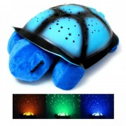 Lampa de veghe broasca testoasa cu lumini si muzica, albastra