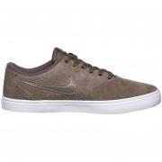 Zapatos Casuales Hombre Nike Sb Check Solar - Chocolate