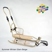Saniuta pentru copii cu spatar Kummer Winter Glam