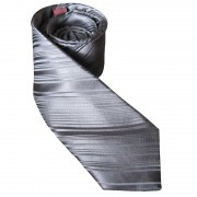 Distino Of Melbourne Self Stripe Slim Nude Silk Necktie Silver NS4