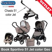 Peg-Perego Book Plus Sportivo Geo asiento Pop Up mod Beige 3pz Outlet