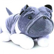 StarOne Collections Cute Bulldog Soft Toy- 45cm (GRAY)