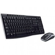 Logitech Wireless Keyboard and Mouse MK270 Black