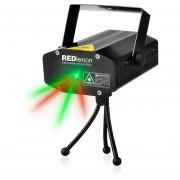 Redlemon Proyector de Luz Láser Audiorítmica Tripié Luz Verde y Roja