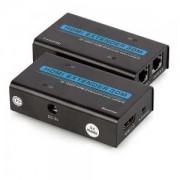 Extensor de Sinal HDMI x RJ45 Cat 5e/6 até 30 metros