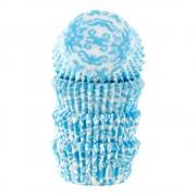 Cacas Form 4 cm blå brokad 100-pack