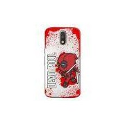 Capa Transparente Personalizada Exclusiva Motorola Moto G4 Play Deadpool - Tp139