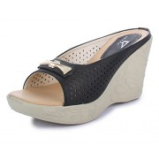 Trase Kate Black Wedges for Women