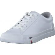 Tommy Hilfiger Corporate Leather Sneaker White Ybs, Skor, Sneakers och Träningsskor, Låga sneakers, Vit, Herr, 46