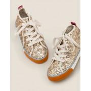 Mini Gold Hochgeschnittene Schuhe Mädchen Boden, 33, Metallic