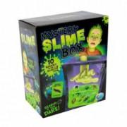 Set de creatie slime Grafix cutia misterelor fosforescent cu 10 piese de cautat
