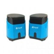 Тонколони Kisonli K-500, 2.0, 6W (2 x 3W), USB, 3.5mm jack, син