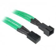 Cablu prelungitor BitFenix Alchemy 3-pini, 60cm, green/black, BFA-MSC-3F60GK-RP