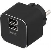 Deltaco Strömadapter för USB-laddare 3.1A