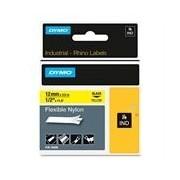 Dymo 18490 (S0718080) 12mm Cinta Nylon flexible negro sobre amarillo