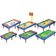 6 in 1 Action Table Outdoor Indoor Sports Toys with Multiple Gaming Accessories