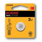 Pile bouton CR1616 Kodak Max Lithium - Lot de 2