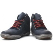 Clarks Newtown Hike Hi Ankle Sneakers For Men(Navy, Red)