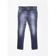 Numero Uno Slim Fit Men Jeans blue in color material cotton pattern solid