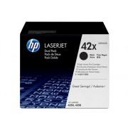 HP Pack de 2 cartuchos de tóner original LaserJet HP 42X de alta capacidad negro para Laserjet 4250 y 4350