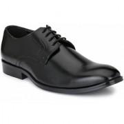 Hirel's Black Cap Toe Derby Premium Formal Shoes