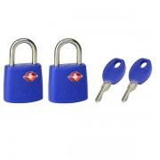 Set 2 ks visacích zámků Master Lock TSA 4695EURTAST - modrý