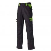 DICKIES Pantalon de travail DICKIES EVERYDAY - 240 g/m² - noir/lime - Taille - Taille 56