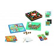 DJECO Zestaw klasycznych 12 gier Classic box, gry planszowe, kości memo 4+ DJ05218