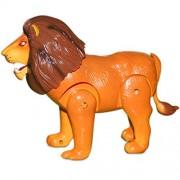 Motor Driven Super Lion Walking and Roaring Toy (Orange, 22x7x17.5cm)