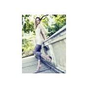 Ekskluzywne legginsy z transparentnym wzorem Kiele firmy Omero, granatowe, rozm. M