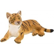 Mojo Fun 387009 Tiger Cub Lying Realistic International Wildlife Toy Replica