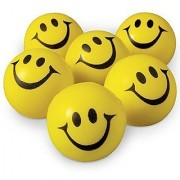12 Pcs Set of Smiley FACE Squeeze Ball
